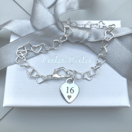 16th birthday gift charm bracelet - FREE ENGRAVING